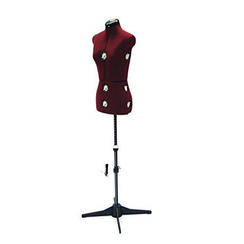Female Adjustable Dress Form for Sewing - 12 Dial Fabric Female Adjustable Sewing Form with Base (Small)