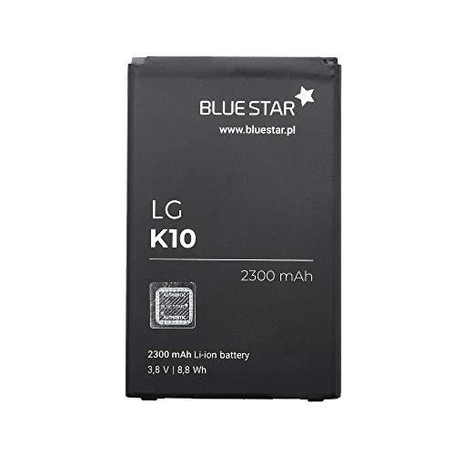 Blue Star Premium - Batería de Li-Ion litio 2300 mAh de Capacidad Carga Rapida 2.0 Compatible con el LG K10 2016