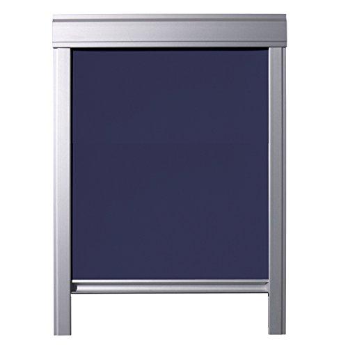 ITZALA Einfaches Verdunkelungsrollo für VELUX Dachfenster, M08, 308, Dunkelblau
