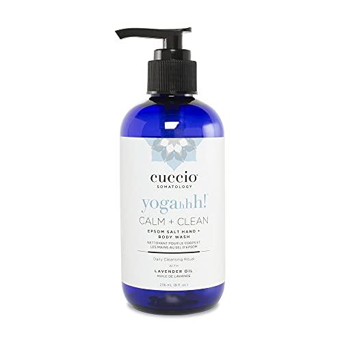 Cuccio Somatology Calm and Clean Epsom Salt Lavender Body Wash - Moisturizing Hand and Body Wash - Detoxify, Reduce Swelling, Restore, Energize - 8 oz