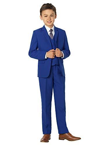 Shiny Penny - Traje azul para niños, traje de niño para boda, traje de graduación, desde 12-18 meses hasta 16 años Azul azul 6-7 Años