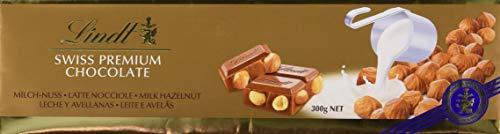 Lindt Tableta de Chocolate con Leche con Avellanas Enteras - 5 Paquetes de 300 gr - Total: 1500 gr