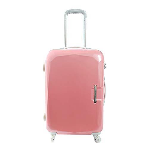 SHAN Bagaglio Trolley Valigia Escursione della Ruota Universale Bagagli Femmina Sveglia Caso di Imbarco Sacchetto Duro 22 Pollici Rosa