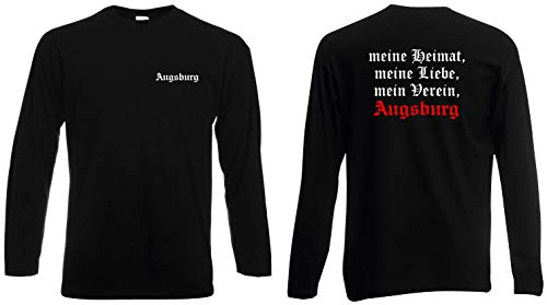 world-of-shirt / Augsburg Herren Longsleeve Meine Heimat