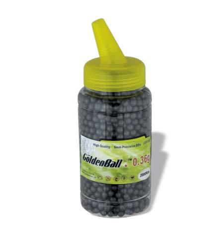 Golden Ball Bola Bolas Munición Munición Invisibles 2000 0,36 g Paintball Airsoft Softball Tiro Deportivo y recreativo Camping Outdoor 35664 + Portabotellas de regalo