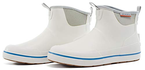 Grundéns Men's Deck Boss Ankle Boot, White - 12 M US