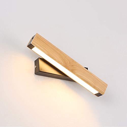 LED LIGHT LED LIGHT NORDIC WALL SCONCE METAL WOOD LIGHTING LIGHTURY, Lámparas de pared de pared ajustables simples para el estudio de la cama de la cama de la cabecera Lámparas de lavado de pared, 3 T