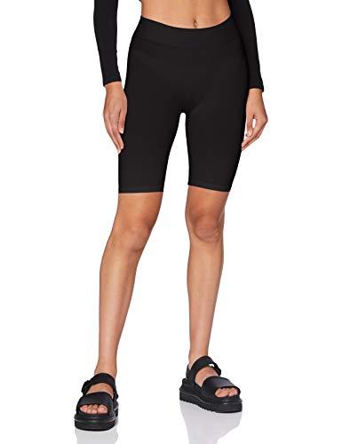 Pieces NOS Damen Leggings London Shorts/12 Schwarz (Black), 38 (Herstellergröße: M/L)