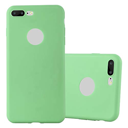 Preisvergleich Produktbild Cadorabo Hülle für Apple iPhone 8 Plus / 7 Plus / 7S Plus in Candy Pastell GRÜN - Handyhülle aus flexiblem TPU Silikon - Silikonhülle Schutzhülle Ultra Slim Soft Back Cover Case Bumper