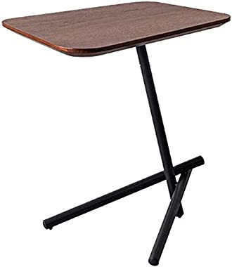 HTTXCJ Nordic Couch End/Side Tables Corner Coffee Table Simple Bedside Table Laptop Desk for Balcony Bedroom Office,Metal Bas