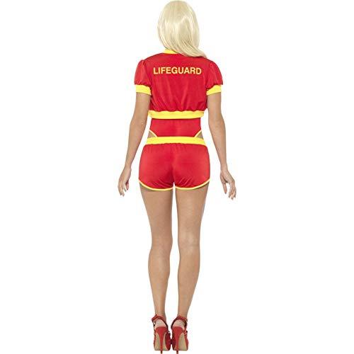 Smiffys Licenciado oficialmente Costume d' Alerte à Malibu, rouge et jaune, avec Maillon de bain, short, veste e