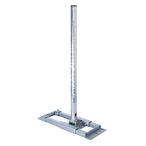 PremiumX Deluxe X90-60 Dachsparrenhalter 90 cm Mast 60 mm SAT-Antenne Sparren-Halter Dach-Halterung für Satelliten-Schüssel feuerverzinkt mit Kabeldurchführung
