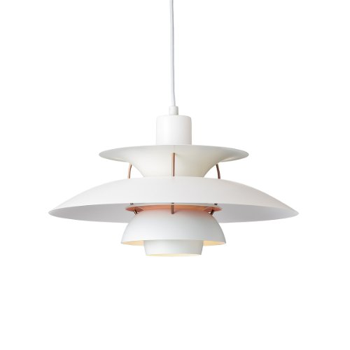 Louis Poulsen Pendelleuchte PH 5 Contemporary, white/rose matt, pale rose, PH 50