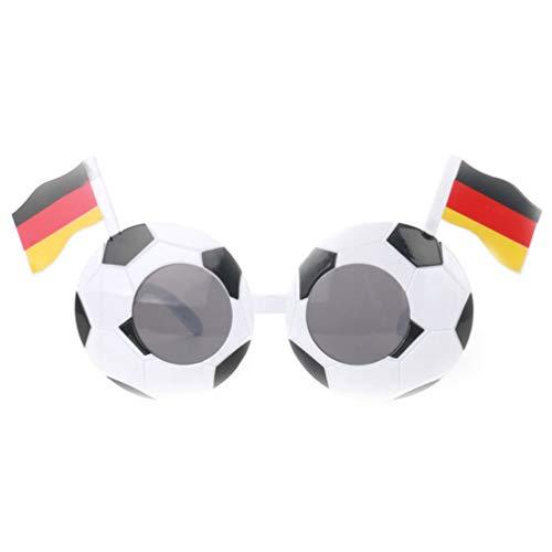 NUOBESTY Gafas De Fiesta Ftbol con Bandera para Copa Mundial Copa de Europa De La UEFA Gafas De Disfraces Divertidas Favores De Fiesta (Alemania)