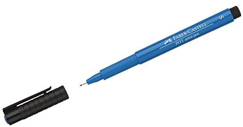 Faber-Castell 167010–Tusche lápiz Pitt Artist Pen, grosor de trazo S, color 110, phthaloblau