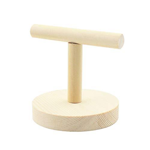 lansuiyour Perca de loro de madera T soporte de entrenamiento de aves de pata de molienda juguetes de mascota cacatúa jaula de juguete