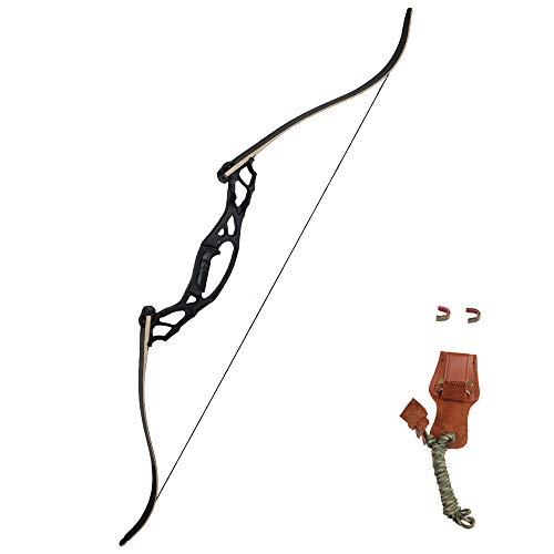 """SinoArt 62"""" Takedown Hunting Recurve Bow Metal Riser 30 35 40 45 50 55 60 65 70 Lbs Right Handed (50 Lbs)"""