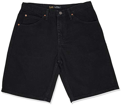 Lee Men's Regular Fit Denim Short, Double Black, 36