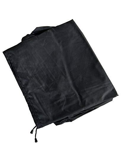 CLP Funda protectora para muebles de jardín, cubierta de polirratán, para muebles de jardín o arcón de cubierta/cubierta exterior 240 x 185 x 70 cm, color negro