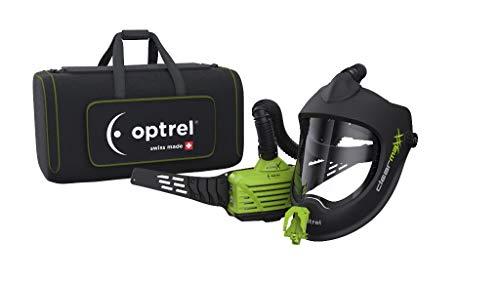 Optrel 4900.250 clearmaxx e3000X Gesichtsvisier mit Frischluftsystem, schwarz grün, unviersal