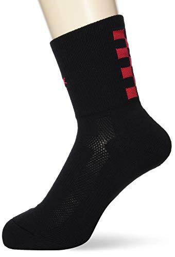 [コンバース] バスケ 靴下 クッションソックス 日本製 抗菌 防臭 CB101053 ブラック/レッド 日本 2123 (FREE サイズ)