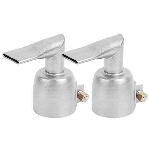 Boquilla de soldadura en ángulo de 2 uds 20mm 90 grados, accesorio de boquilla de soldadura de pistola de aire caliente de acero inoxidable, para soldadura de lámina de PVC PP
