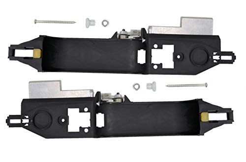 PT Auto Warehouse FO-3346S-2RP - Exterior Outer Outside Door Handle Bracket Only, Black - Rear Left/Right Pair