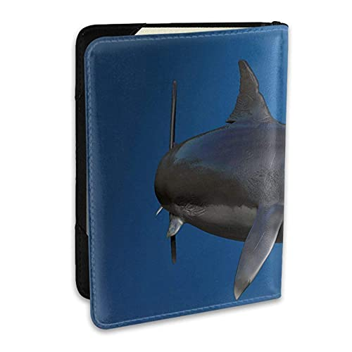 Funda para Soporte de Pasaporte Tiger Sharks Cuero de PU Cartera de Viaje Tarjeta de Bloqueo Cartera Fundas para Pasaporte 6.5 Pulgadas