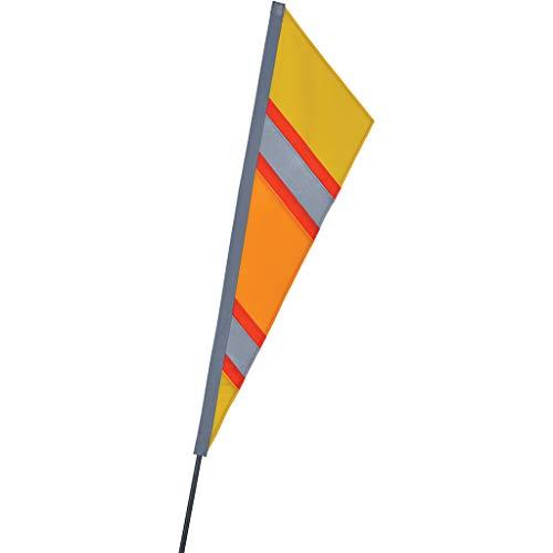Premier Kites SoundWinds Fanion Recumbent Bike Flag - Reflective Yellow