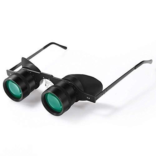 10x34 Brille mit hängendem Ohr Teleskop Angeln Outdoor Sport Angeln Reiseteleskop Ultraleichter grüner Film Nachtsicht abnehmbares Röhren-Multifunktionsfernglas Amateuranfänger