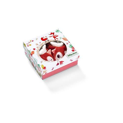 Coffret chaussons bébé Alice - Lilliputiens rouge/blanc 0-6 mois