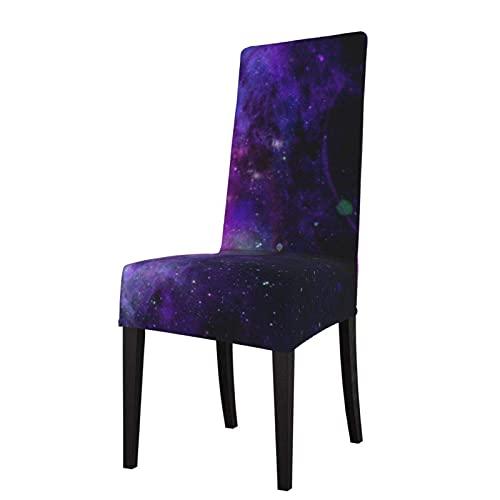 Funda para Silla Galaxy Starry Space Universe Patrón Estiramiento Impreso Fundas para sillas Sillas Lavables Protector Funda de Asiento para sillas