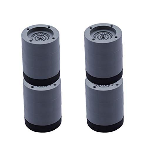 HUAHU Almohadillas antideslizantes para lavadora, soporte de lavadora, almohadillas de goma, cancelación de golpes y ruido, para lavadora y secadora (4 unidades)