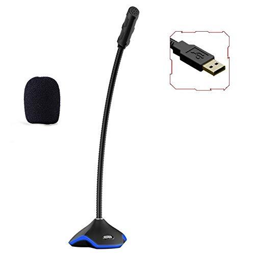 GY-HCJIMkf USB micrófono de Escritorio, Plug & PlayCondenser, Ordenador, PC, Ordenador portátil, Cuello de Cisne Diseño -Grabación, Dictado, Juegos, Streaming