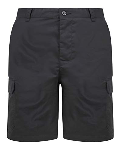Proluxe Endurance Mens Cargo Combat Work Short with Reinforced Seams Black - 36