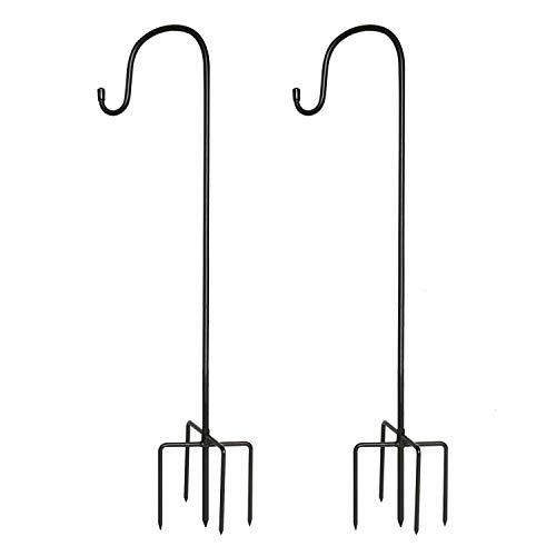 Gonioa Shepherd Hook for Outdoor, 36 Inch 2 Pack Bird Feeder Pole, Garden Hook for Bird Feeders, Plant Hangers, Flower Basket, Christmas Lights, Lanterns, Weddings Decor