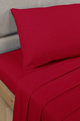 Bedding Heaven Spannbettlaken, Perkal, 60 cm, Rot Ideal für Etagenbett, kleines Einzelbett und Wohnwagenbett