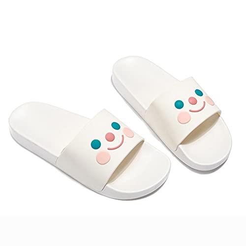 ZHIZI Chanclas Slippers Ladies Slippers Lightweight Ay-Slip Fast Secking Flip-Flop Playa Sandalias y Zapatillas (Color : White, Size : US5/EU36/UK3)