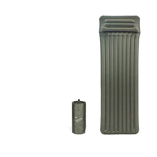 Wjfijz Colchón de Aire Almohadilla Inflable para Dormir con Almohadilla a Prueba de Humedad de Almohada Single-Standard