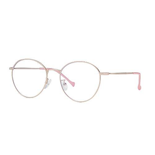 Sonnenbrille Blaulicht Blockierend Frauen Anti Blue Ray Brille Computerbrille Tv-Spiele Müdigkeit Blau Blockierung Brille-C3_Rose_Gold