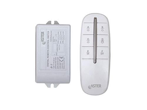 Interruttore Wireless Radiocontrollato Centralina 3 Vie Carico Max 3 X 1000W