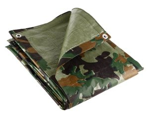 MCM Camouflage Tarpaulin 2.4m x 3m (8ft x 10ft) - Waterproof Outdoor Den Fishing Camping Ground Sheet Cover (2.4m x 3m (8ft x 10ft) Tent Camping Furniture