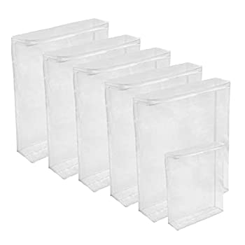 Houseables Plastic Storage Bags Zipper Case Clear 18  x 15  6 Pack Vinyl Moth Proof for Blanket Linen Sweater Bed Sheet Quilt Clothes Pillow Comforter Foldable