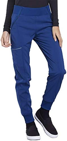 CHEROKEE Infinity Women s Elastic Waist Jogger Scrub Pants CK110A Royal Medium product image