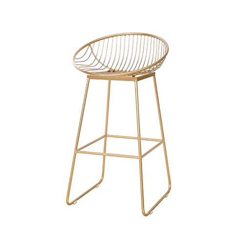 XXHJWXCM E-Sports Gaming Chairs Taburete De Bar Silla De Hierro Forjado Simple, Taburete Alto Metal Estilo Moderno for Hogar, Adecuado for Tienda Cafe Silla De Bar Ergonómica (Color : A)