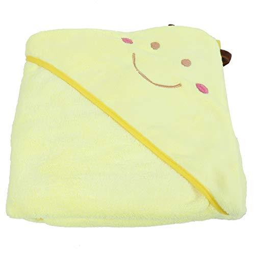 Eautist Kinderbadhanddoek Kinderbadjas Thicken Absorberende Babybadje Washandjes Sneldrogend Babyregistratie Verjaardag(Yellow bee)