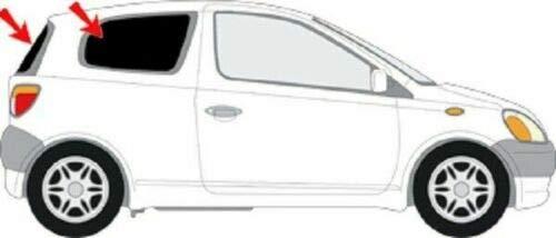 Solarplexius Auto-Sonnenschutz Scheiben-Tönung passgenau für Toyota 3-Türer Yaris Bj. 99-05 Keine Folie Komplettsatz