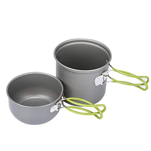 YSCYLY Batterie De Cuisine Kit,Batterie de Cuisine pour Pique-Nique 1-2 Personnes,Kit De Cuisson Portable Multifonction pour RandonnéE Pique-Nique