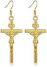 LHQ-HQ Gouden Kruis Hanger Neckalce voor Vrouwen Gelukkige Christelijke Ketting Voor Meisjes Klassieke Jesus Christus Cros...