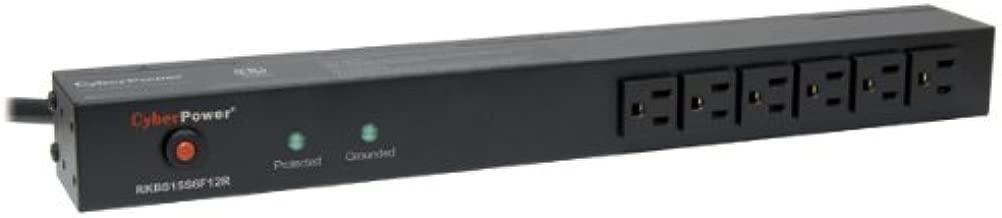 CyberPower RKBS15S6F12R 15A 18-Outlet 1U RM Rackbar Surge Suppressor